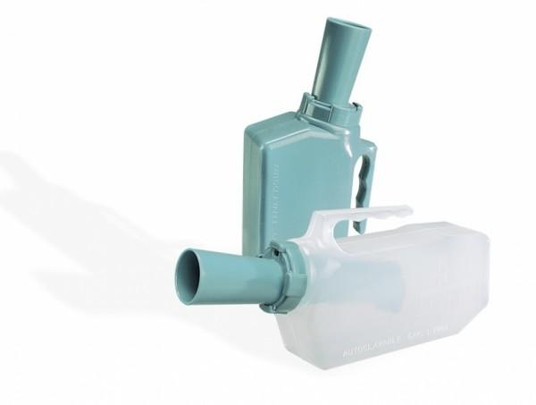 Urinaal met terugloop beveiliging - man, groen