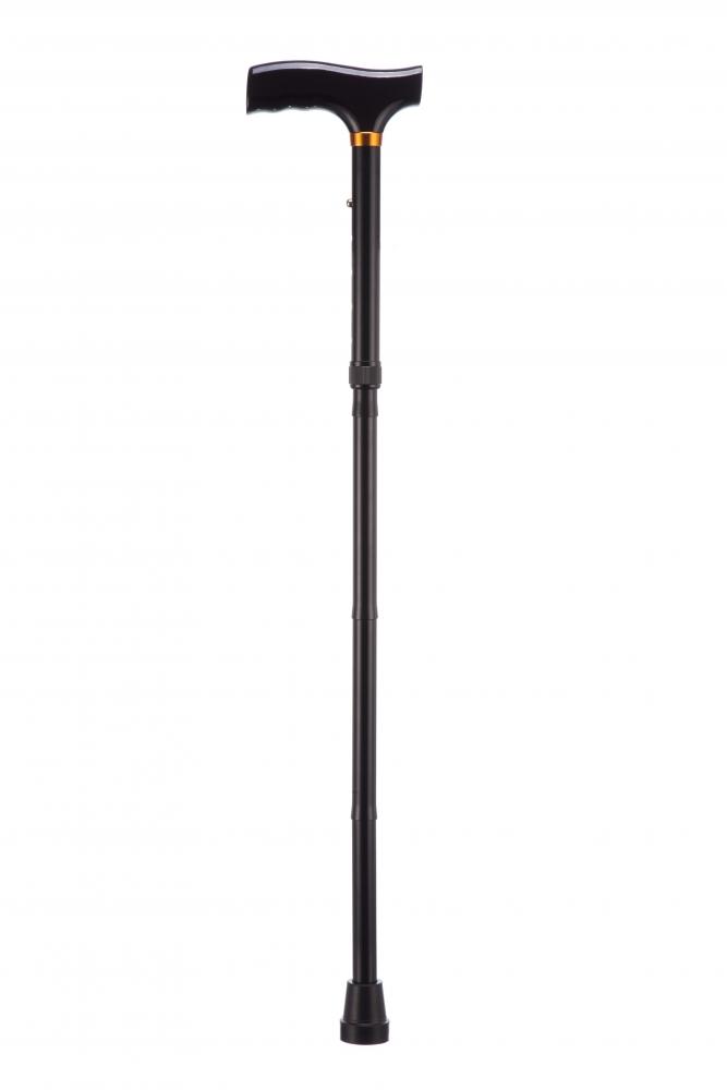 Opvouwbare wandelstok - zwart